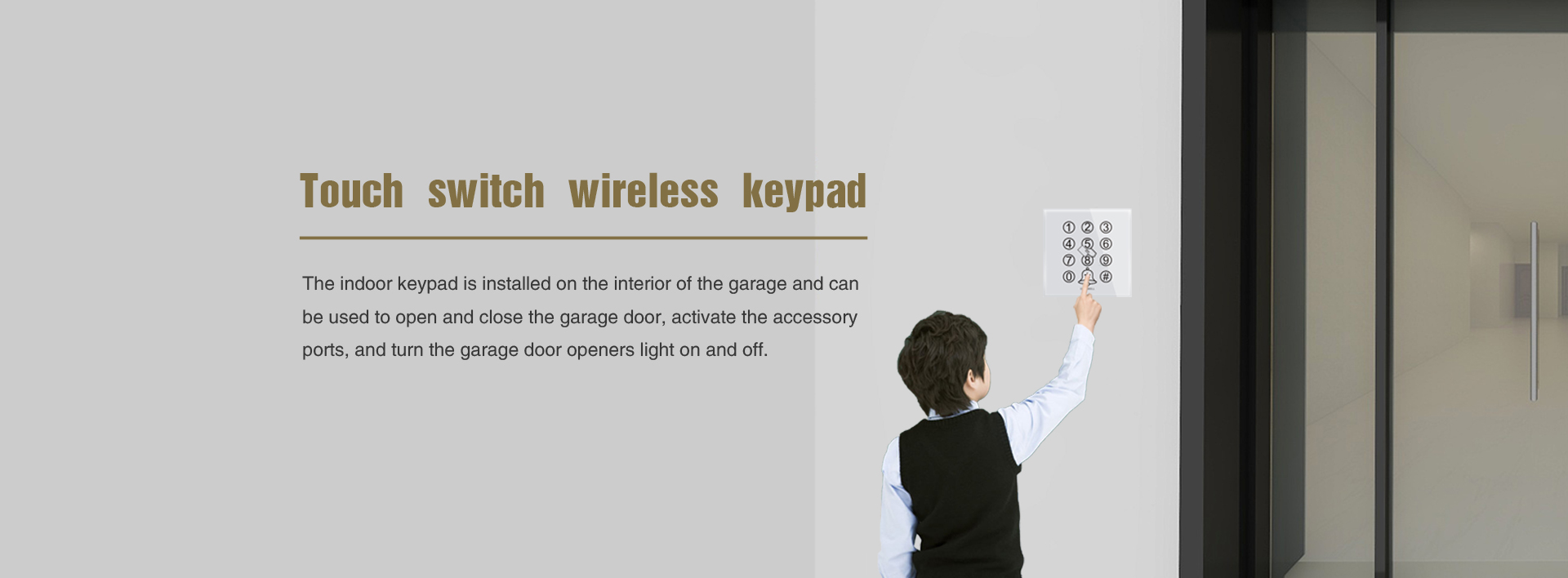 Touch switch wireless keypad